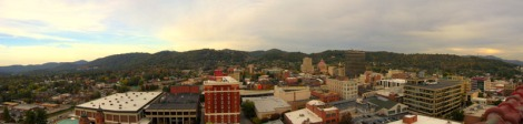 View of Asheville from the Roof Garden