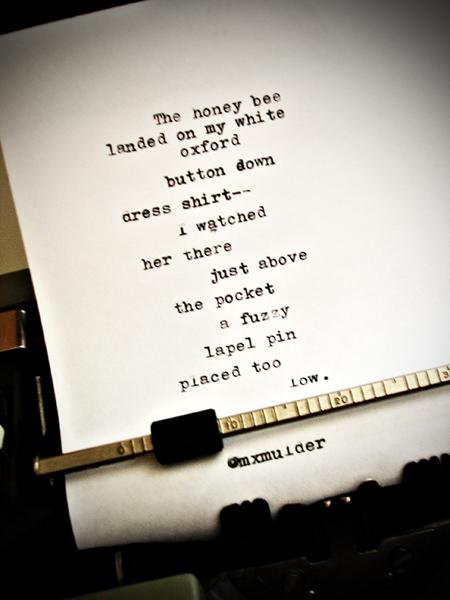 Poem: The honey bee
