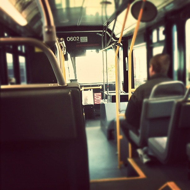 Quiet day on the #avltransit bus route