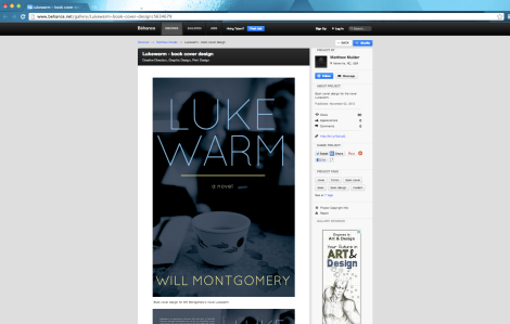 One of the book cover designs I promote on the social network Behance.