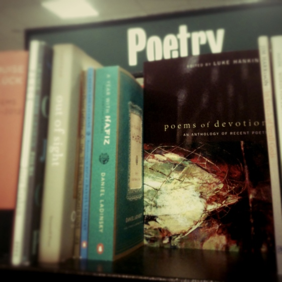 Bookstore Poetry Shelf
