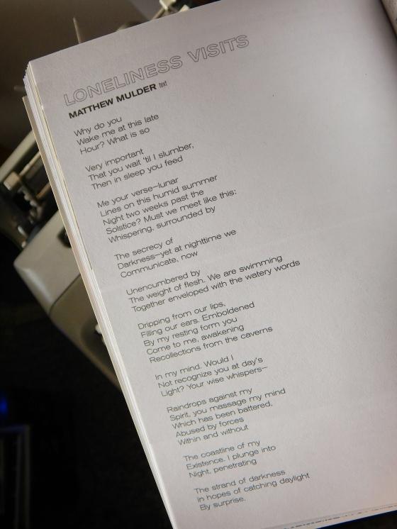Poem 3: Lonelinessvisits