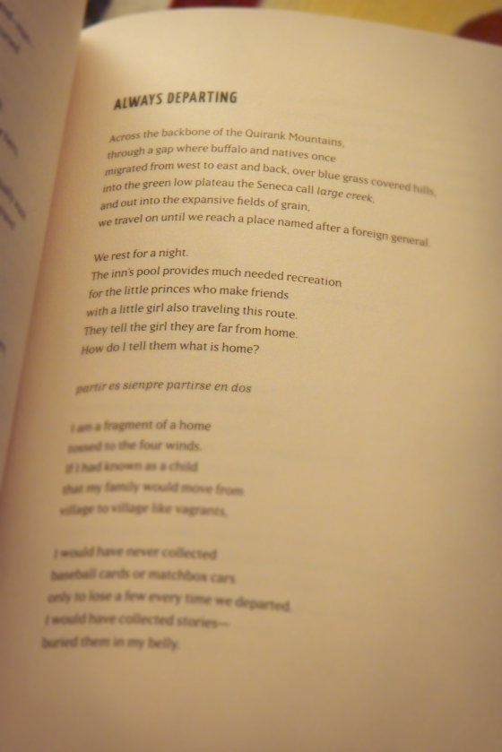 """An excerpt of """"Always Departing"""" by Matthew Mulder from the anthology Rooftop Poets."""